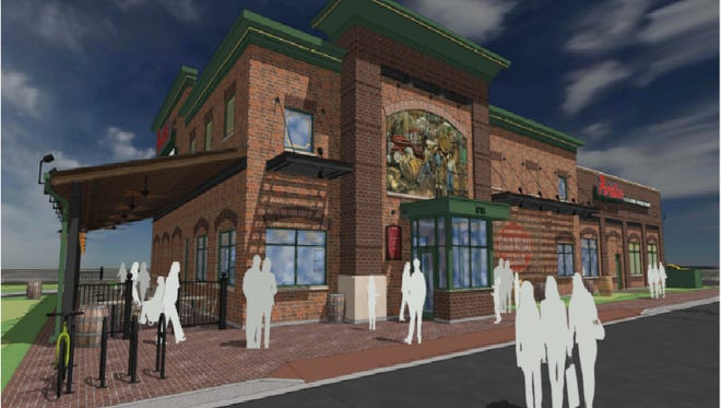This is a rendering of the Portillo's in Fishers scheduled to open in the fall