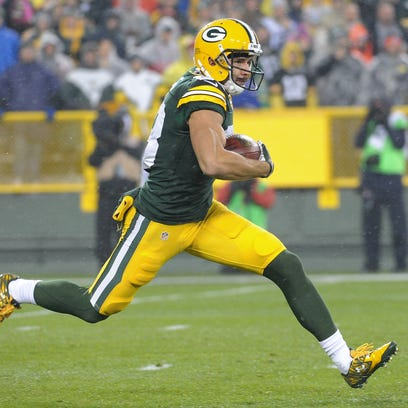 Green Bay Packers wide receiver Jeff Janis takes a
