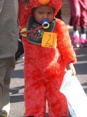 Little ones will shy away from Halloween if it's too scary. This baby Elmo paraded in the annual Morristown parade at the high school last year.