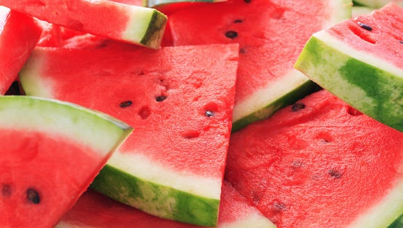 Watermelon slices.