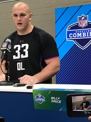 Ohio State center Billy Price speaks to the media Friday