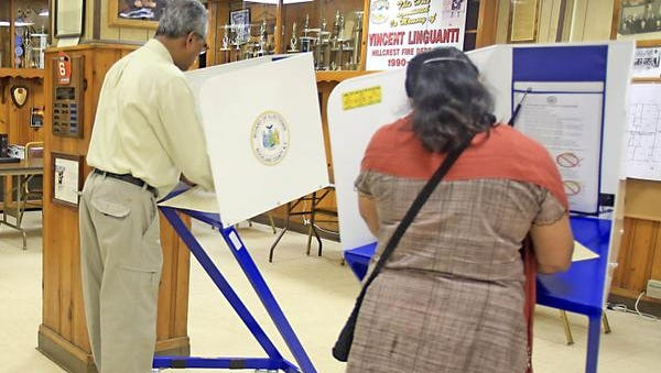 Voters at the Hillcrest Firehouse during Ramapo's Sept. 30 referendum.
