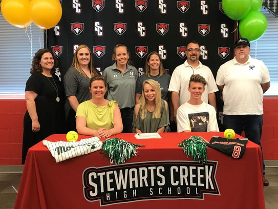 Stewarts Creek's Morgan Smith recently signed to play