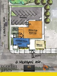 A view of the Arcadia Ales expansion in Lansing.