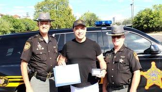 John Travolta was made an honorary deputy sheriff by the Hamilton County Sheriff's Office.
