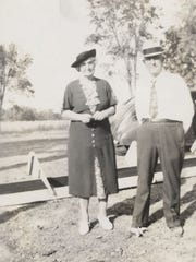 M.E. Jones and his wife, Alice, shown here about 1940,