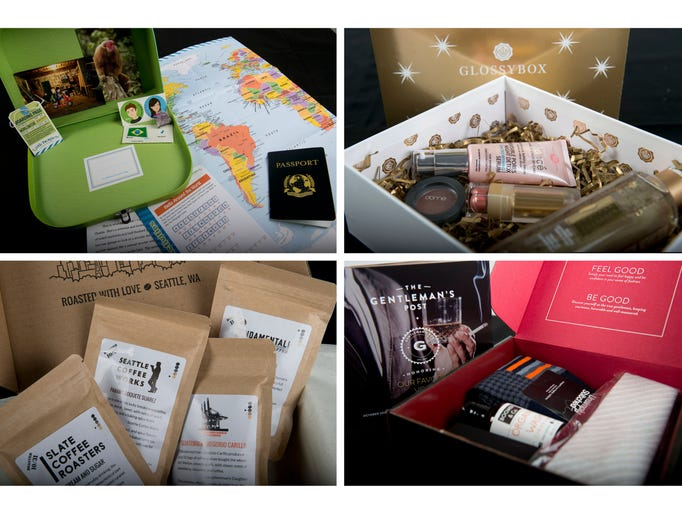 Subscription boxes are filled with themed items that