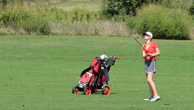 Glendale freshman Wriley Hiebert won all-state honors in her first season of high school golf.
