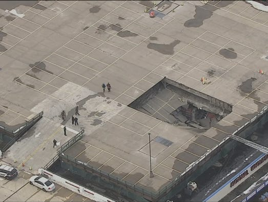 The roof of a Yonkers National Wholesale Liquidators