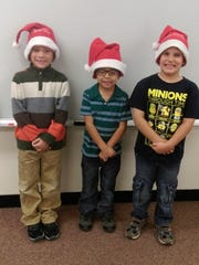 FLC Junior Chorus members, left to right, DJ McCullough, Nathan Estrada and Salem Foltz.