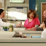"Ken Jeong, left, Tisha Campbell-Martin, Kate Simses and Jonathan Slavin appear in ""Dr. Ken."" A new study finds an epidemic of invisibility runs through the industry for women and minorities."