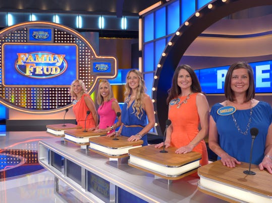 Filming an episode of family feud in atlanta photo family