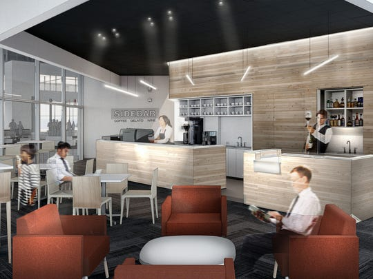 A rendering of Sidebar, a coffee, gelato and cocktail spot coming to Capital Square this summer.