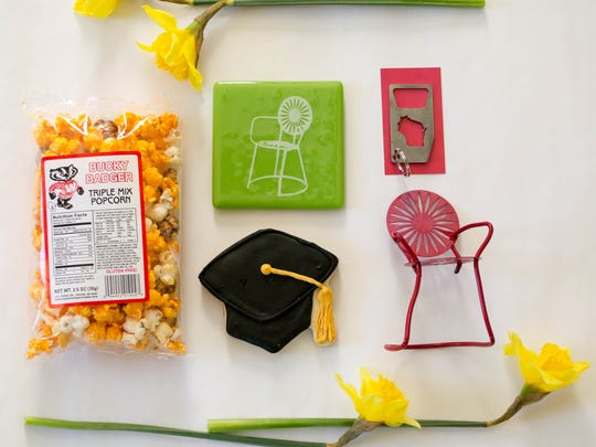 "WiscoBoxes's ""The Graduate"" gift box includes Bucky"