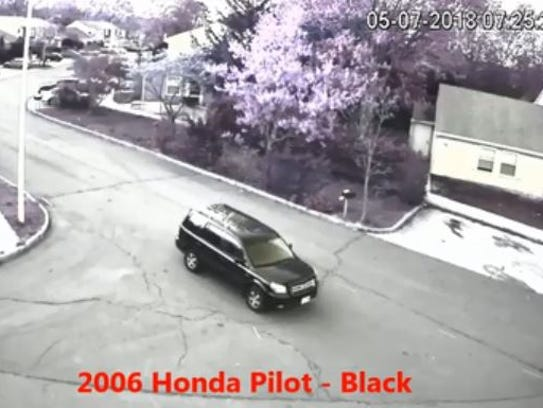 Police on Monday were looking for a black SUV in connection