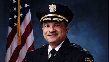 Inspector Victor Ayala, who will end his 32 years with the department on Friday.