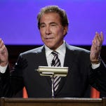 Casino mogul Steve Wynn speaks at the Global Gaming Expo, Tuesday, Sept. 30, 2014, in Las Vegas. It's not the gambling but everything else -- including giving people a chance to live big -- that remains key for casinos Wynn said at the event.