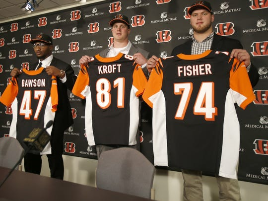 The Cincinnati Bengals introduced linebacker Paul Dawson,