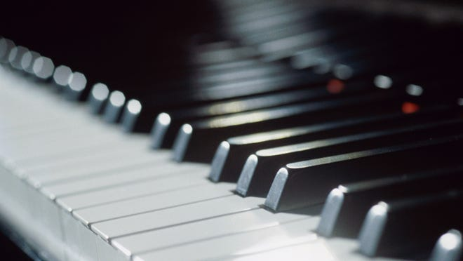 Close-up of the keys of a piano