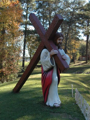 The Collins city park features a tall, wooden statue of Jesus carrying a cross. The 12-year-old park was created in part to honor Jesus, but the Christian displays have caught the attention of the Freedom From Religion Foundation, which sent a complaint to Collins.