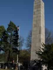 The Camp Merritt Memorial Monument in Cresskill.