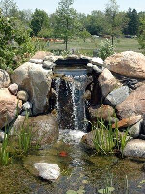 Water features at Minnetrista, such as the butterfly garden waterfall, are among the most popular attractions in the gardens.
