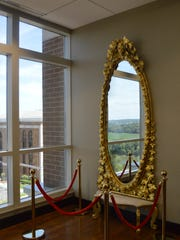 The mirror was donated by an heir of the Franklin House Hotel, which was originally a downtown business in 1800s Clarksville.