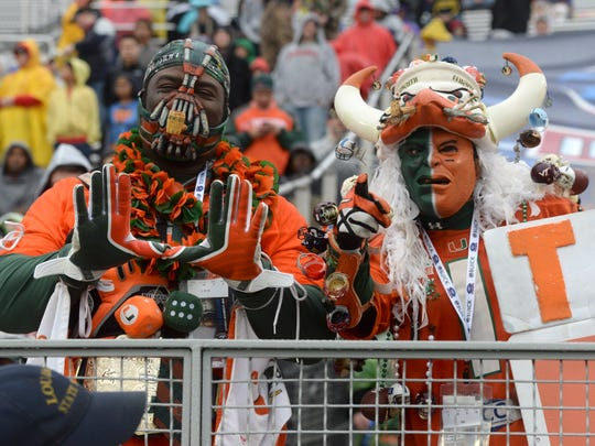 Miami fans get behind their team as the Hurricanes