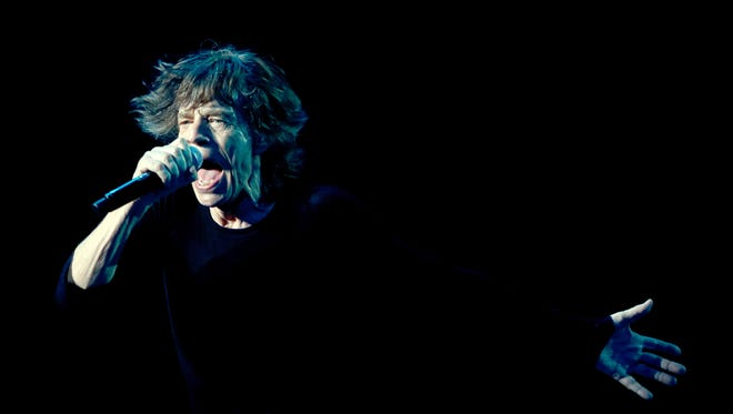 Mick Jagger performs on March 12, 2014 at the Mercedes-Benz Arena in Shanghai.