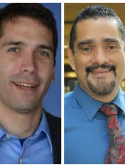 Mark Moses, left, and John Torres, right