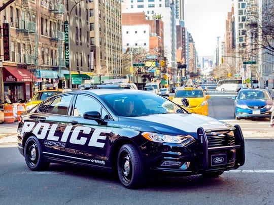 The 2018 Ford Police Responder Hybrid Sedan.