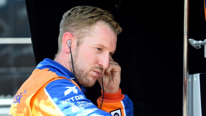 IndyCar Series driver Charlie Kimball (83) escaped major injury in a scary crash Saturday.