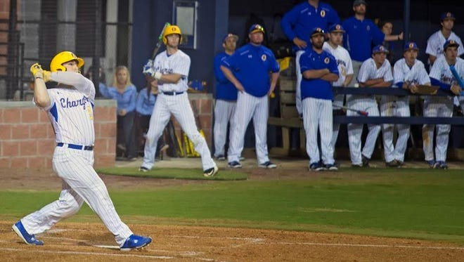Oxford catcher Thomas Dillard, who is committed to Ole Miss, has belted nine home runs this season.