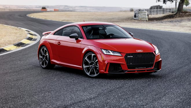 The sporty TT RS feels sure-footed, nimble and agile in fast back-road driving.