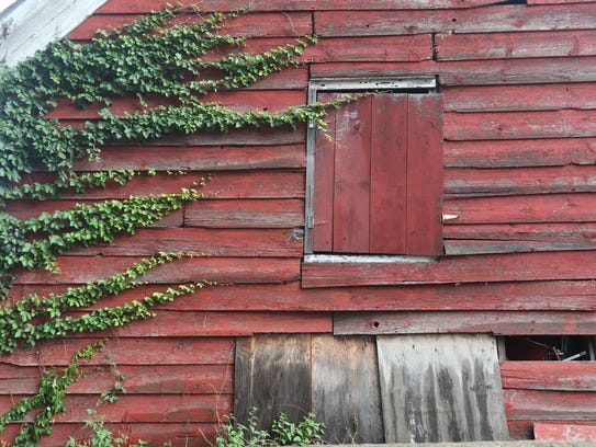 The exterior of the barn at the Cropsey Community Farm
