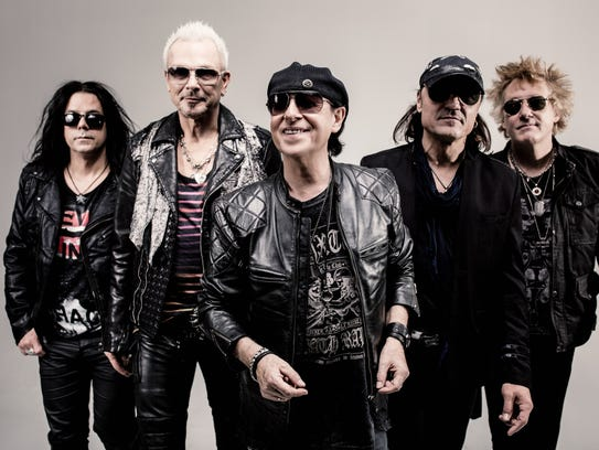The members of The Scorpions — from left,  Pawel Maciwoda,