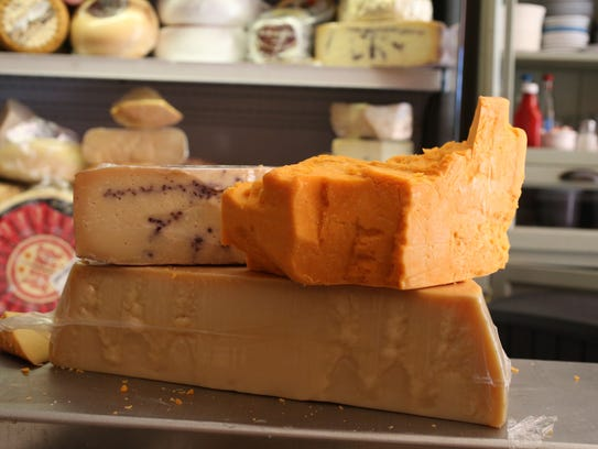 Hunks of cheese at Mint Premium Foods on Main Street