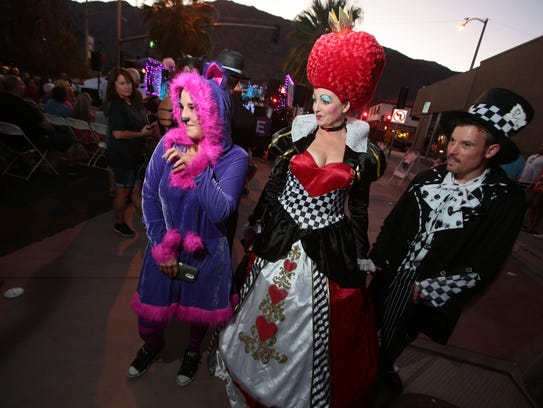 Hundreds dressed up for the Halloween celebration on