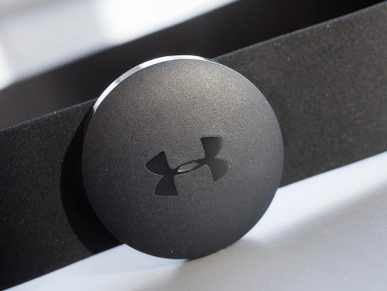 This Under Armour chest strap heart rate monitor is