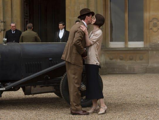 Henry Talbot (Matthew Goode), left, and Michelle Dockery
