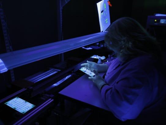 Lisa Glysch, conformal coat inspector operator at Surface