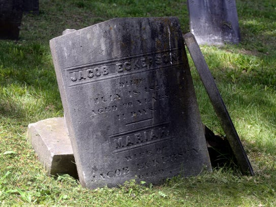 The grave or Jacob Eckerson at the Clarkstown Reformed