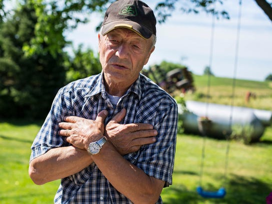 Farmer Bill Carter at his home in rural Lacona, Iowa,