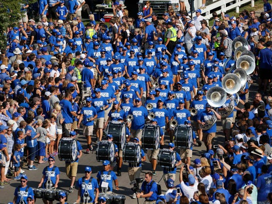 Kentucky Wildcats band at the Cat Walk.