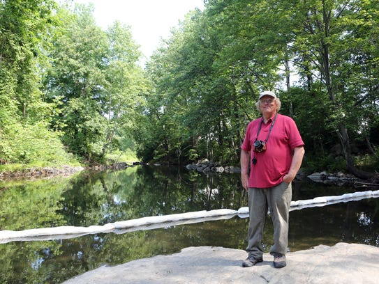 Geoff Welch, the Ramapo River watershed keeper, at