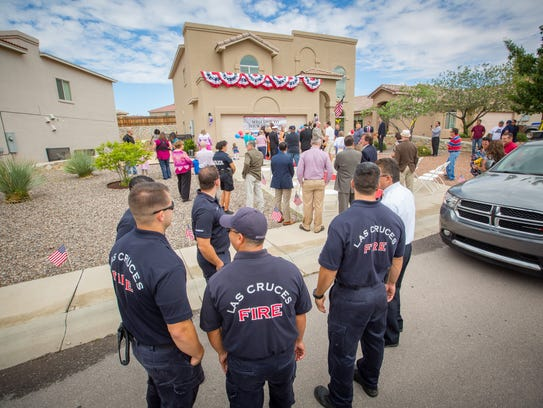 Las Cruces firefighters, police, local dignitaries,