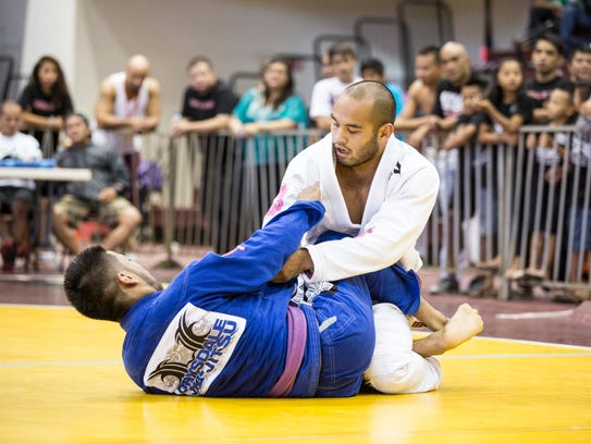Frank 'The Crank' Camacho also practices jiu-jitsu as demonstrated in this PDN file photo.