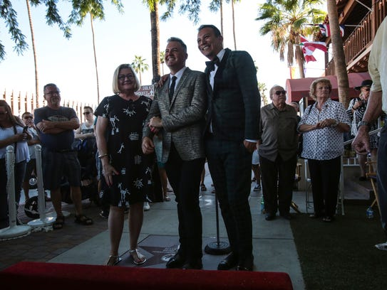 Ross Mathews received a star on the Palm Springs Walk