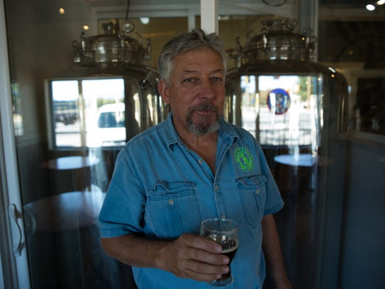 Jerry Grandle, owner and head brewer at Spotted Dog