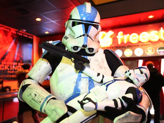 """An APPO, a clone trooper character from """"Star Wars,"""""""